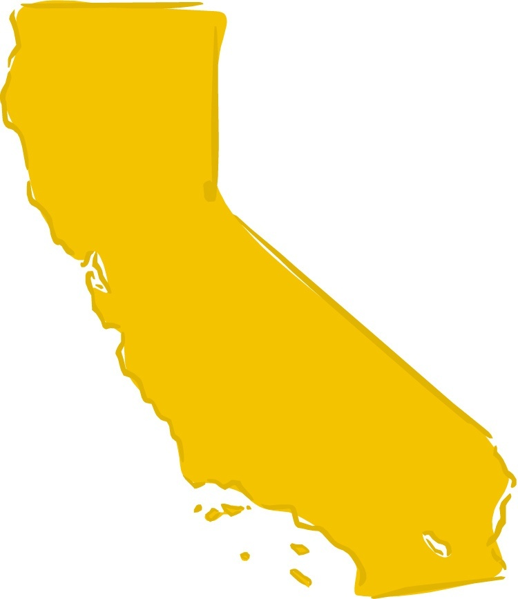 maps canada state fish california of map